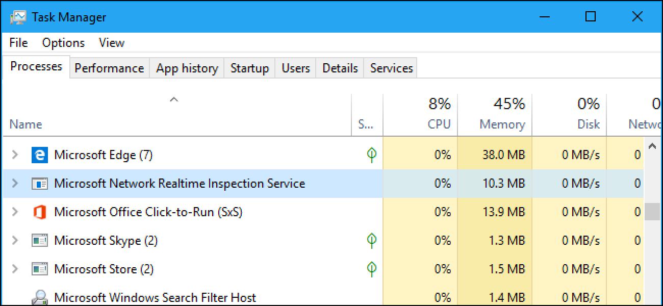 """Zer da """"Microsoft Network Realtime Inspection Service"""" (NisSrv.exe) eta zergatik exekutatzen da nire ordenagailuan?"""