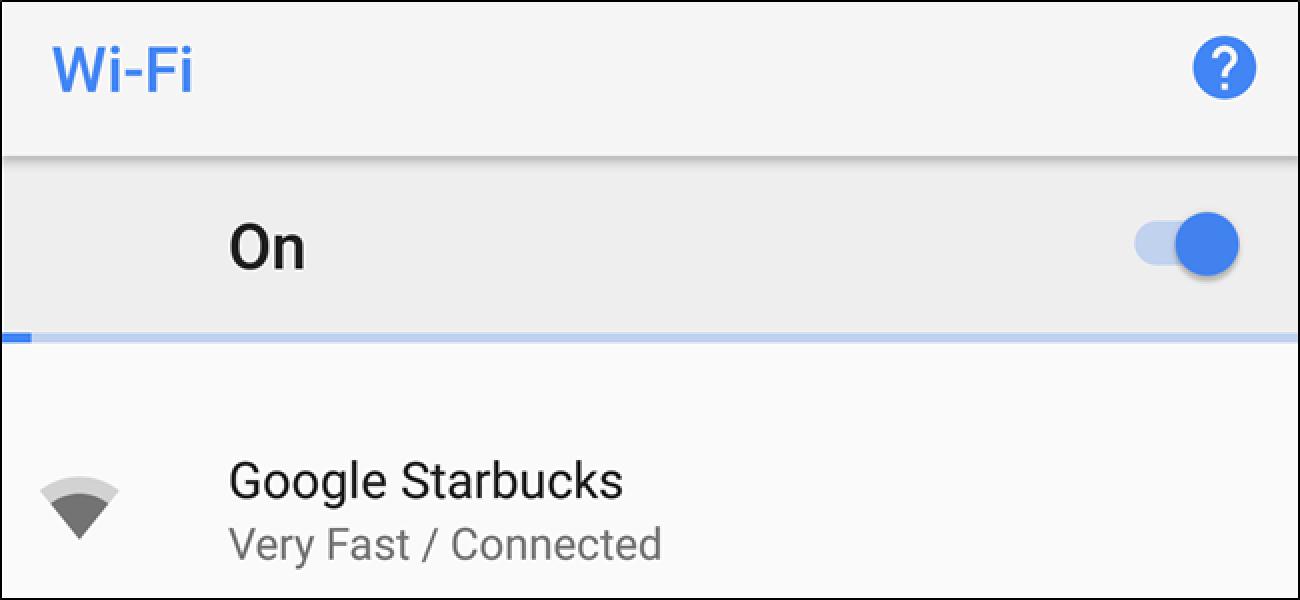 Android-ek nola daki WiFi sarea azkarra edo motela dela konektatu aurretik?