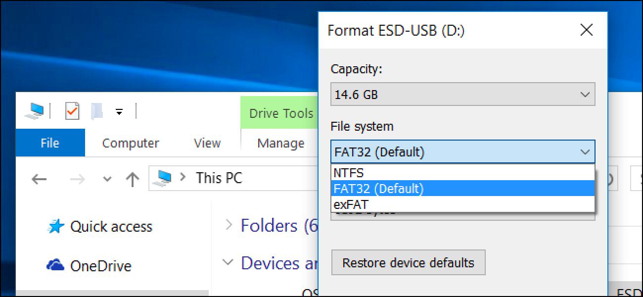 Zer fitxategi-sistema erabili behar dut nire USB unitatean?