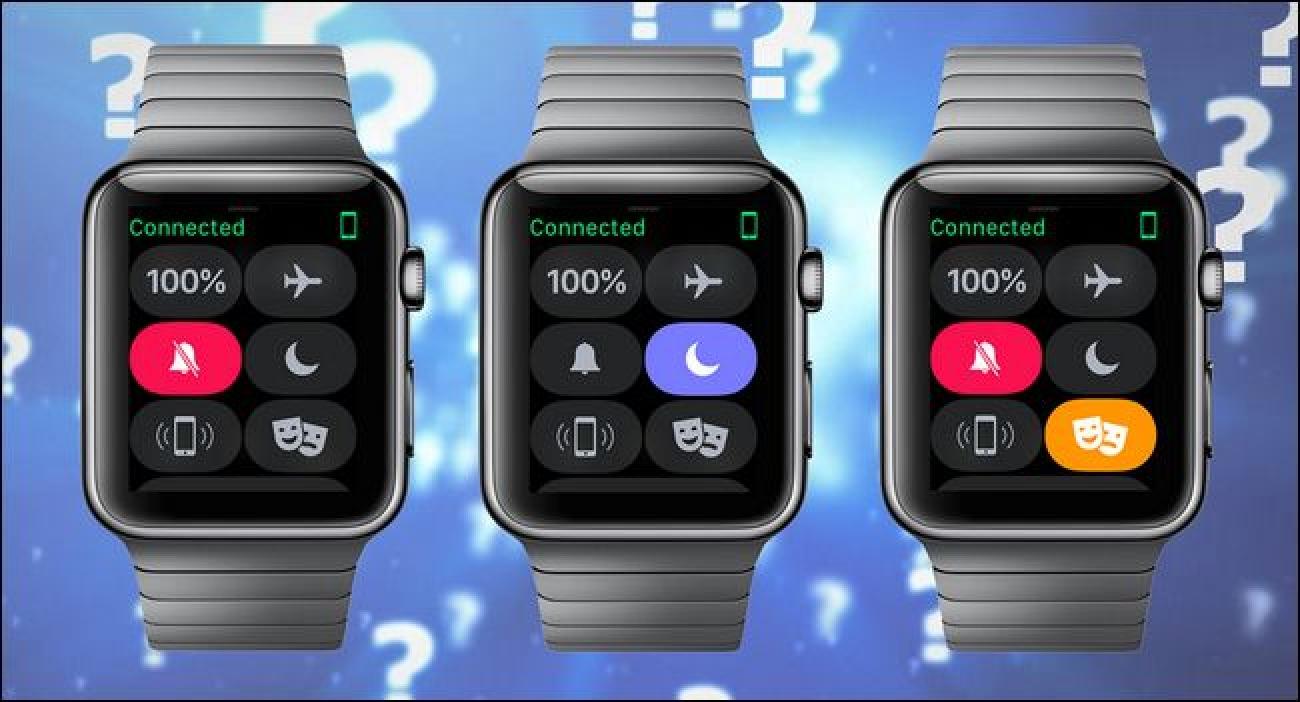 Isilik, ez nahastu eta antzerki moduaren arteko aldea Apple Watch (eta noiz erabili bakoitza)
