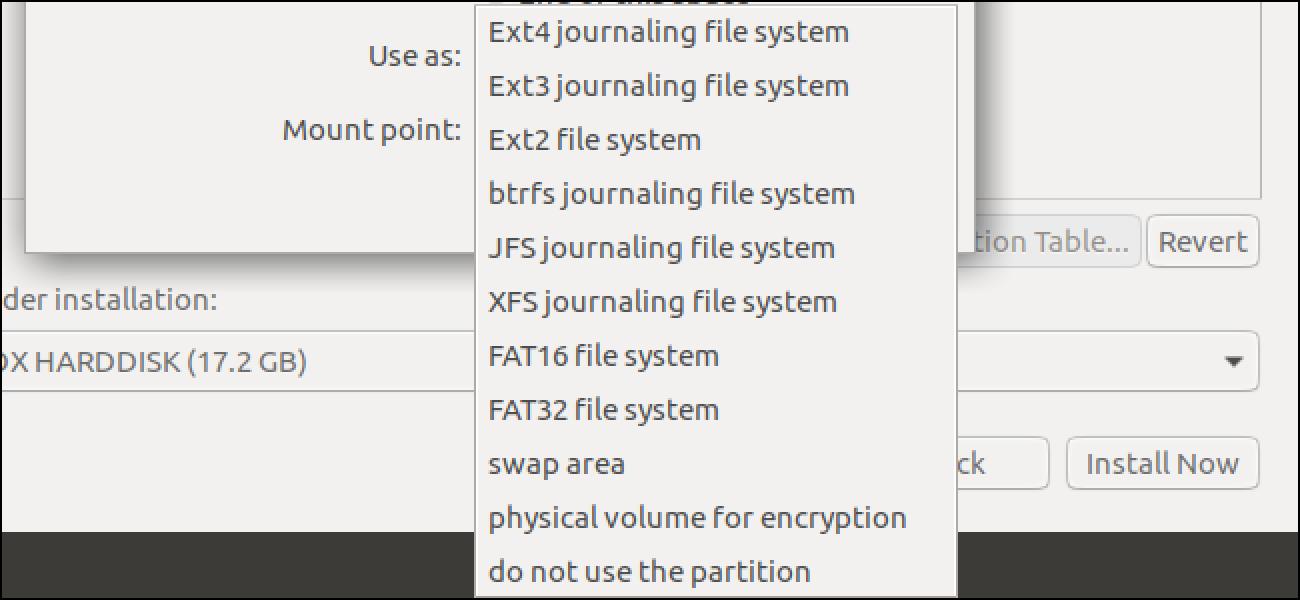 Zein Linux Fitxategi Sistema erabili behar duzu?
