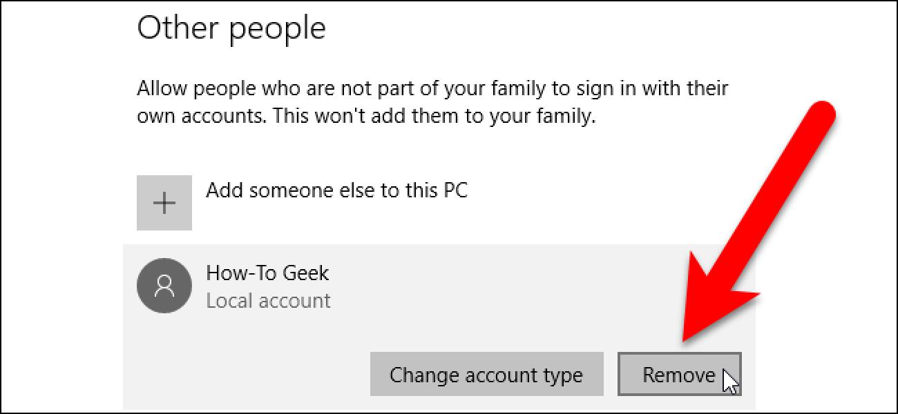 Erabiltzaile-kontua nola ezabatu Windows 7, 8, edo 10