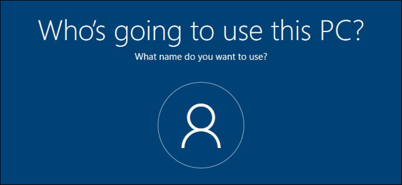 Nola sortu tokiko kontua konfiguratzen ari zaren bitartean Windows 10