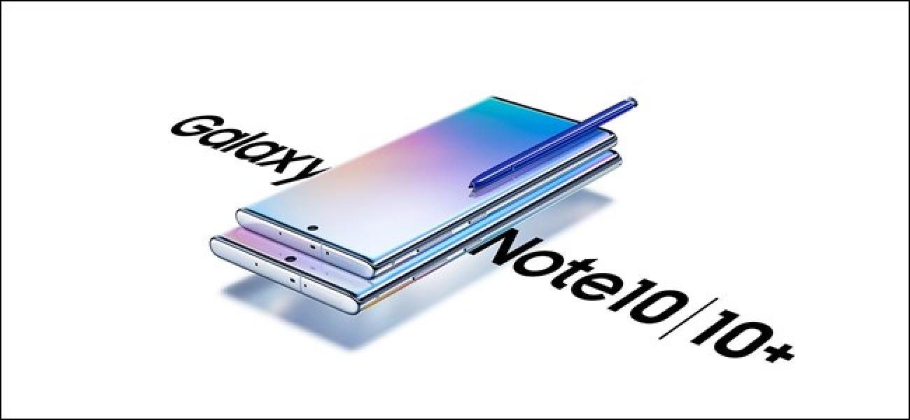 Nola itzali zure Samsung Galaxy 10 edo 10 Plus oharra
