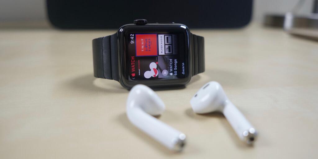 Musika nola jolastu zurean Apple Watch