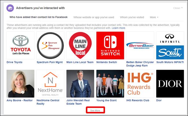 Nola ikusi zein Facebook Iragarleek zure informazioa pribatua dute 4