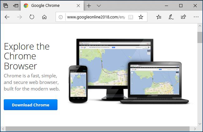 Bingek Chrome bilatzen duzunean Malware bultzatzen ari da 4