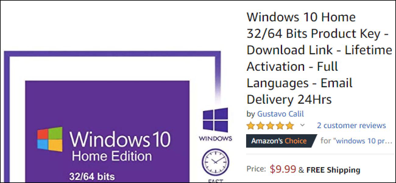 Kontuz ibili kontratazioan Windows 10 Noiztik Amazon
