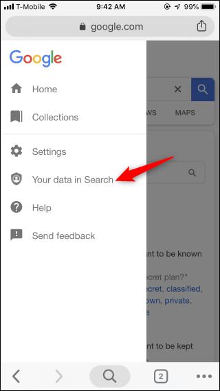 Nola garbitu Google Bilaketaren Historia modu errazean 5