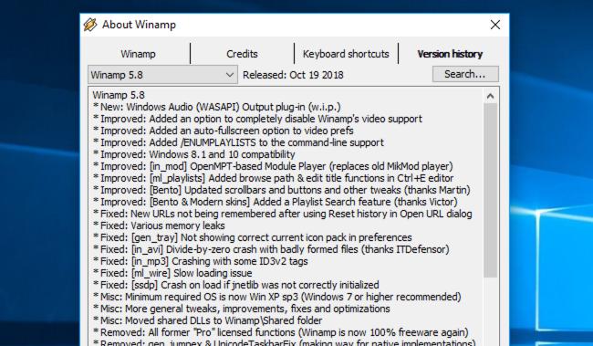 Doako deskarga: Winamp 5.8 Beta Ofiziala da, orain Llama-Friendly 3