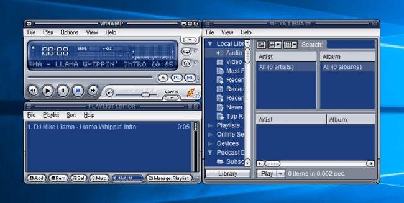 Doako deskarga: Winamp 5.8 Beta Ofiziala da, orain Llama-Friendly