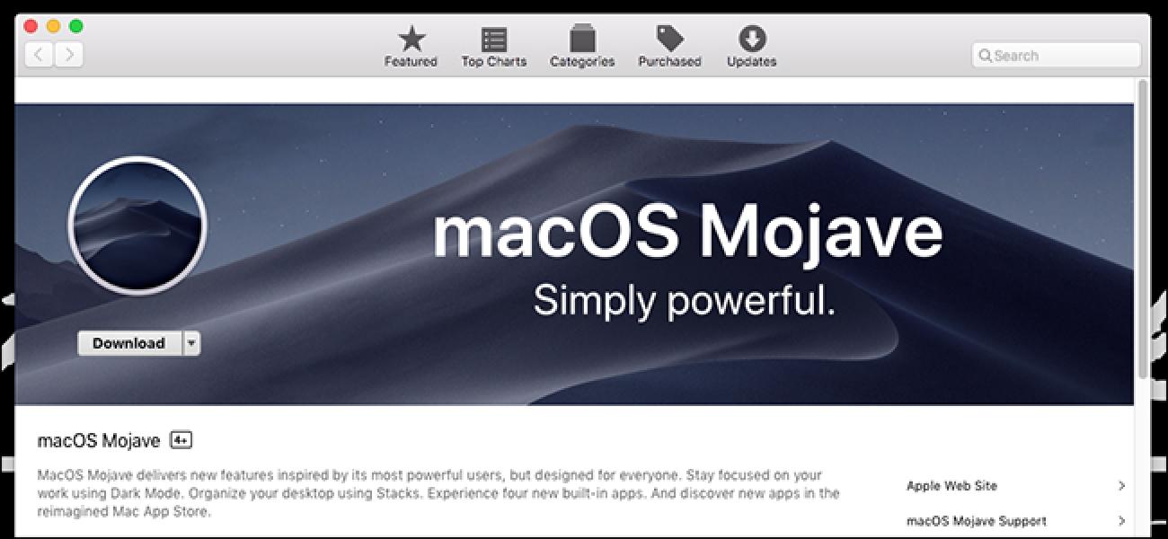 Apple Oraindik MacOS Mojave-ren bertsio berritzeko alertak bidaltzen dira bateraezinak diren ordenagailu zaharrentzat
