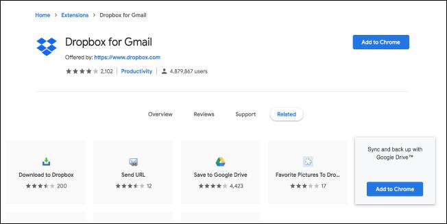 Nola erabili Gmail gehigarri berriak (Dropbox bezala) 2