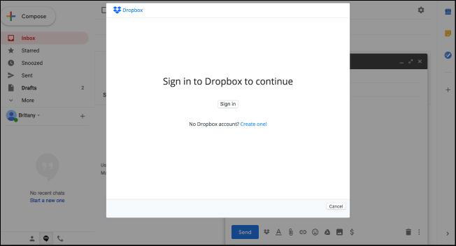 Nola erabili Gmail gehigarri berriak (Dropbox bezala) 4