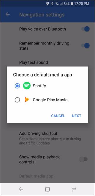 Nola erabili Google Maps musika kontrolak Spotify-era, Apple Musika edo Google Play Music 10
