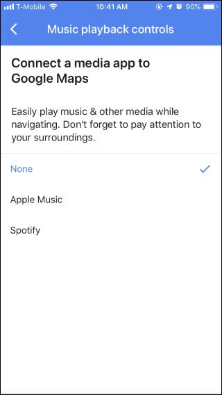 Nola erabili Google Maps musika kontrolak Spotify-era, Apple Musika edo Google Play Music 5