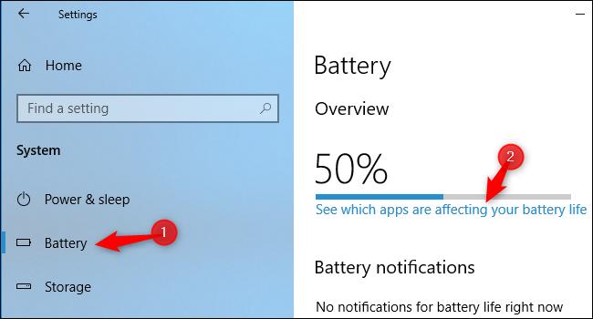 Nola ikusi potentziaren erabilera Windows 10eko ataza-kudeatzailea 5