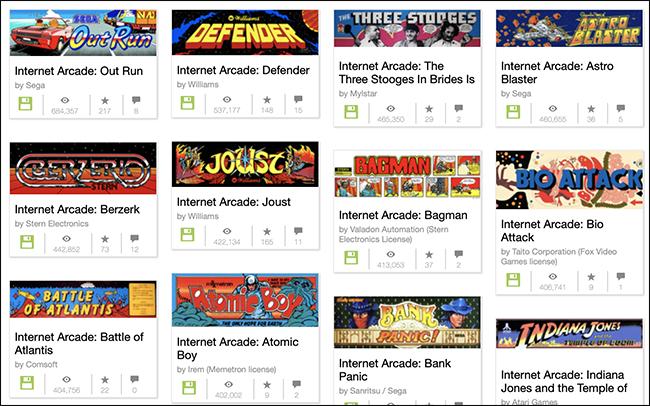 Play 1, 785 Arcade joko klasikoak Oraintxe Internet Artxibategian (behar ez diren hiruhilekoak) 2