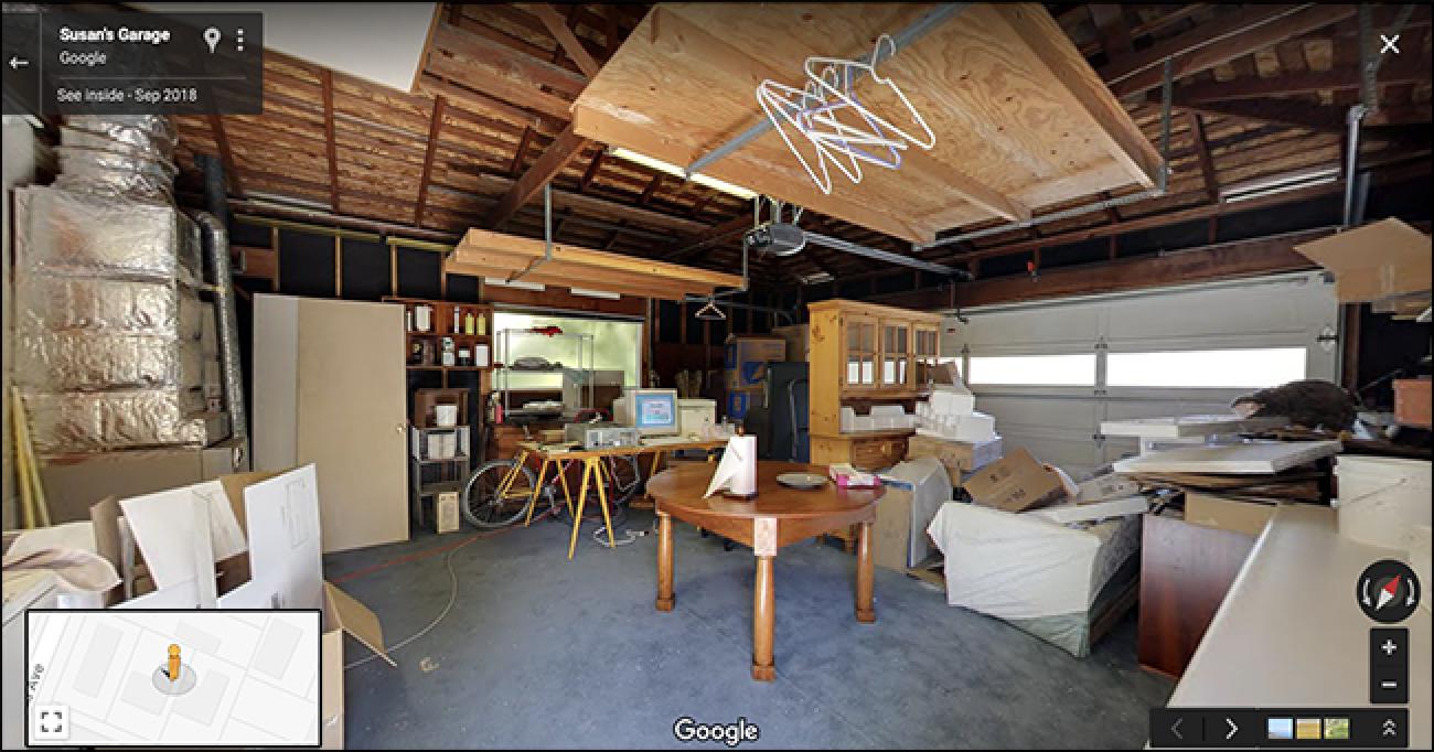 Begiratu Google hasi zen garajearen bisita birtual hau