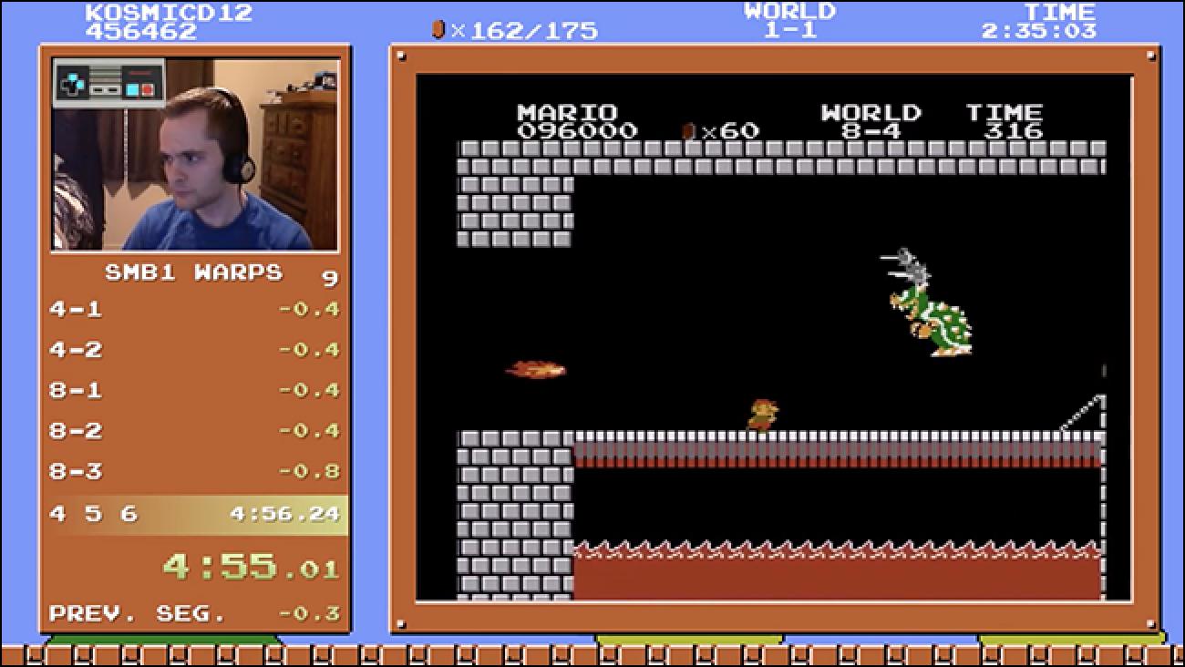 Watch Maniac Beat Super Mario Bros. hau lau minutu eta 55 segundoan