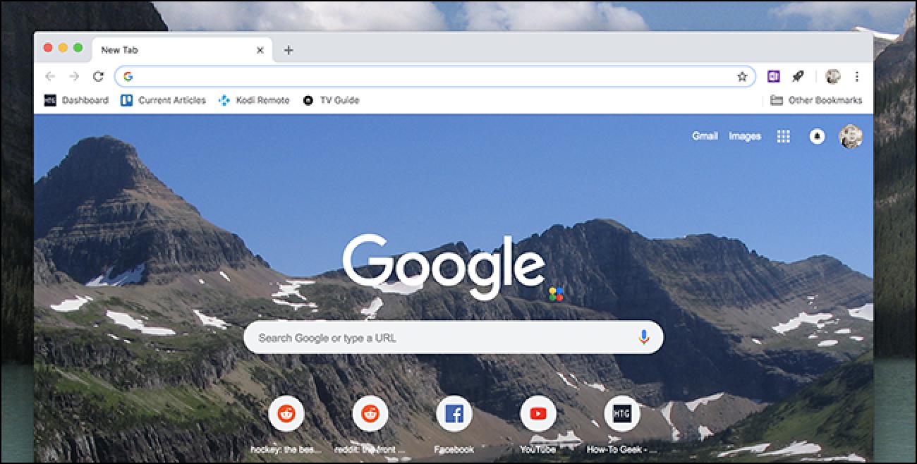 Pertsonalizatu Chrome-ren fitxa berria, ez da luzapenik behar