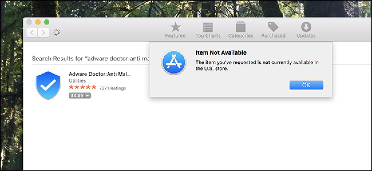 Adware Doctor, Mac App Store-ko saltzaile garrantzitsuenak, erabiltzaileen Web historia jasotzen ari zen
