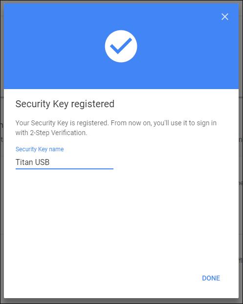 Nola konfiguratu eta erabili Google Titan Key Key sorta 7