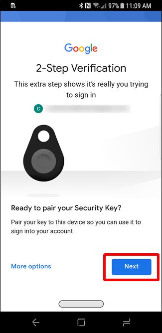 Nola konfiguratu eta erabili Google Titan Key Key sorta 8