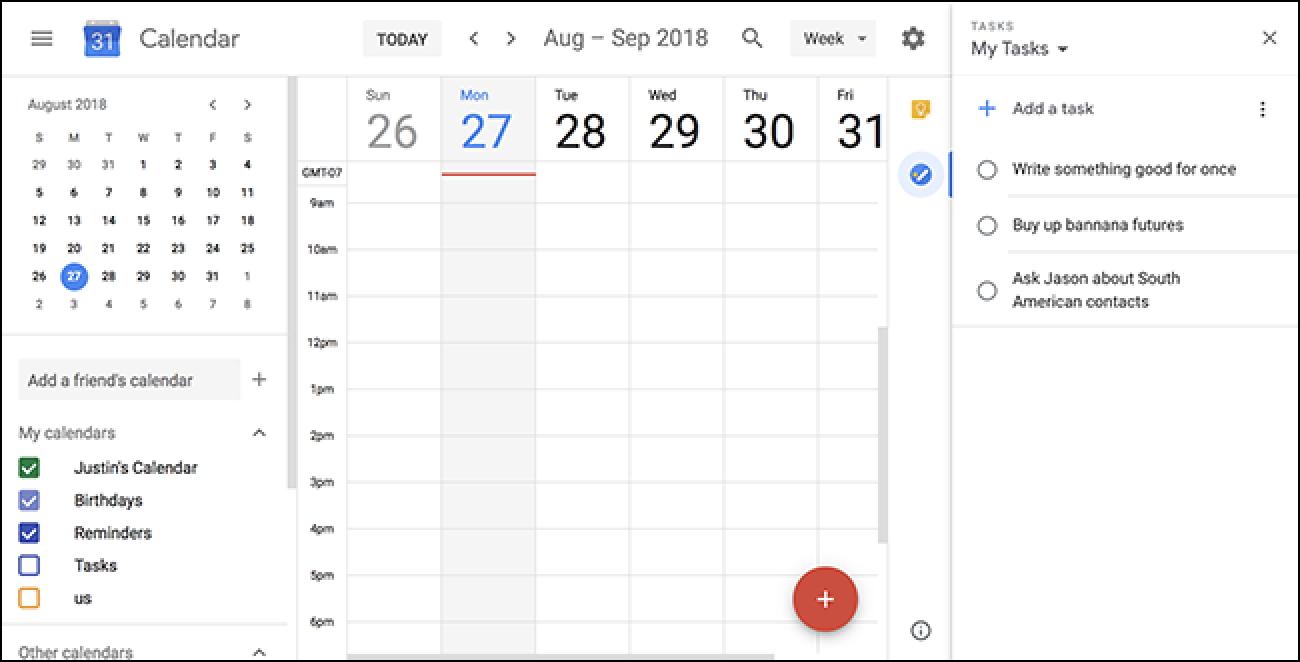 Gmail estiloko alboko panela Google Docs eta Google Calendar-era dator