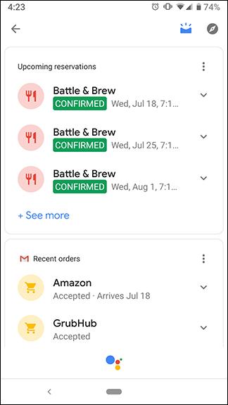 Google-k Google Now (Sorting) laguntzailea barruan itzuliko du 3