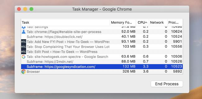 Google Chrome orain% 10 RAM gehiago erabiltzen hasiko da Spectre-ri esker 2
