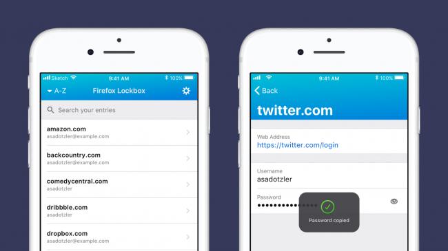 Firefoxek Pasahitz kudeatzailea abiarazten du iPhone eta Oharrak Androiderako 2