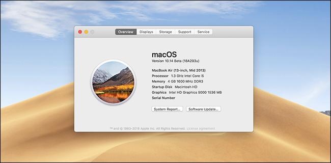 Nola probatu MacOS Mojave Beta oraintxe 8