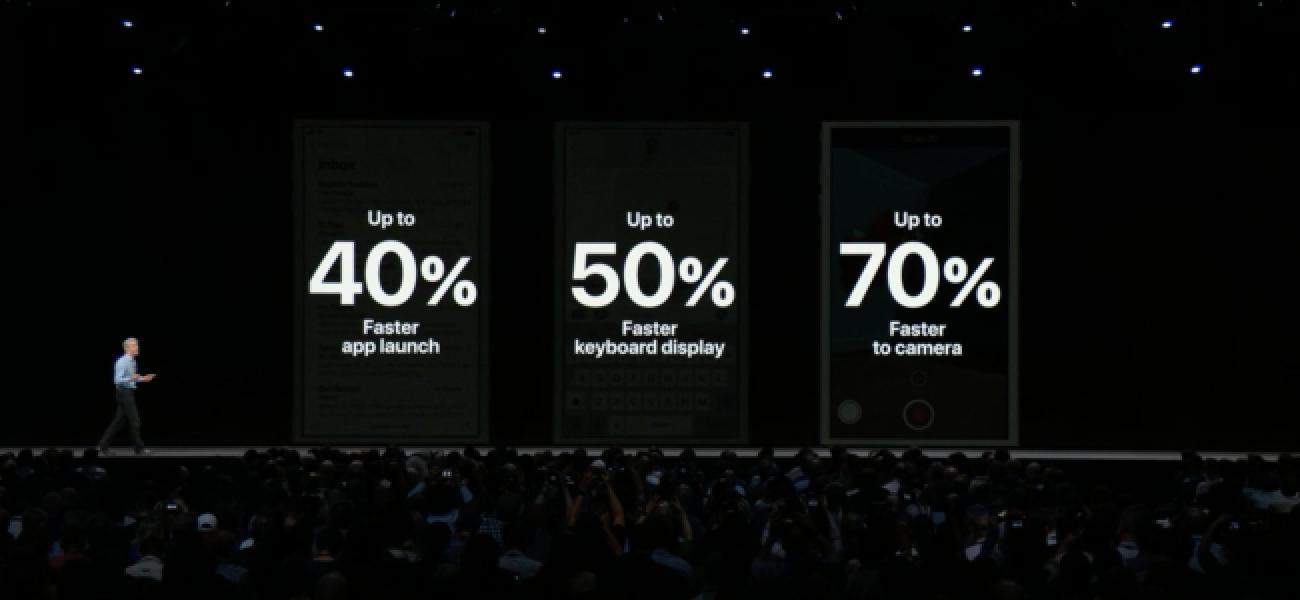 Apple IOS 12 erreklamazioak gailu zaharrak azkartuko ditu