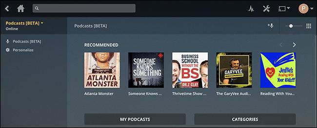 Plex Media Center orain Podcastak onartzen ditu 2