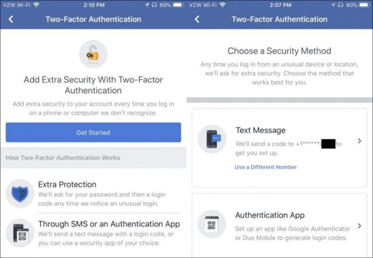 Facebook Bi faktoreren autentikazioa bertsio berritzen du: Hona hemen nola konfiguratu