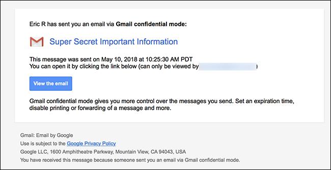 Gmail-en konfidentzial modu berriak nola funtzionatzen duen 8