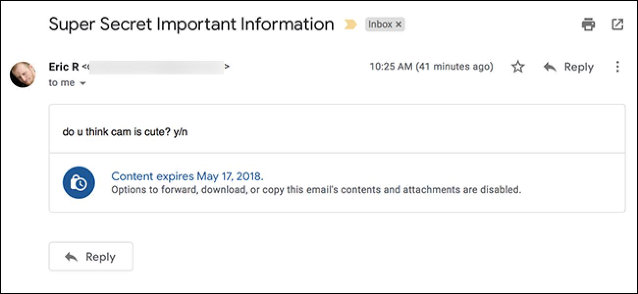 Gmail-en konfidentzial modu berriak nola funtzionatzen duen
