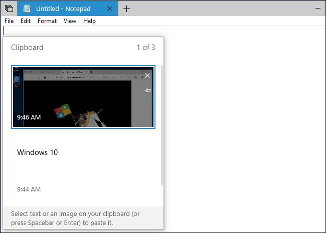 erabiltzea Windows 10garren arbel berria: historia eta hodeiko sinkronizazioa 4