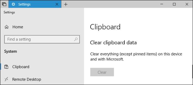 erabiltzea Windows 10garren arbel berria: historia eta hodeiko sinkronizazioa 6