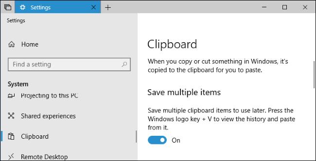erabiltzea Windows 10garren arbel berria: historia eta hodeiko sinkronizazioa 2
