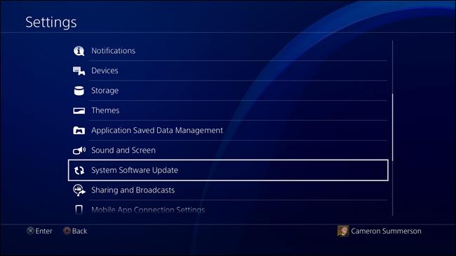 Nola eguneratu PlayStation 4 edo Pro 4