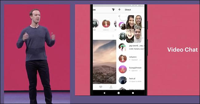Facebook Datu aplikazioa iragartzen du, Taldeko bideo-txatak Instagram eta Whatsapp, eta gehiago 3