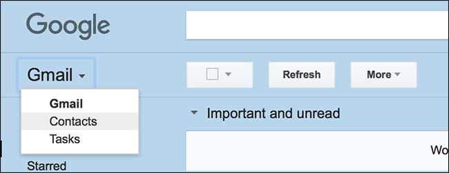 Nola bilatu Kontaktuak Gmail berrian 2