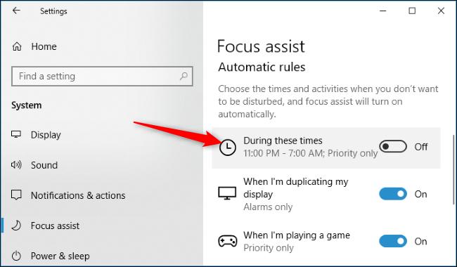 Nola erabili Focus Assist (Ez nahastu modua) aktibatuta Windows 10 8