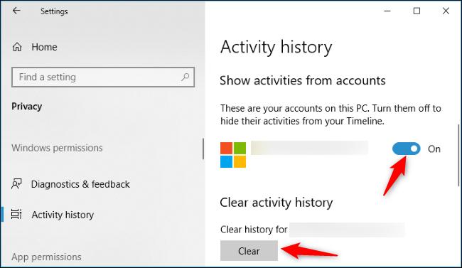 Nola desgaitu denbora-lerroa Windows 10 5