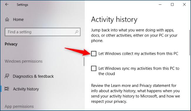 Nola desgaitu denbora-lerroa Windows 10 4