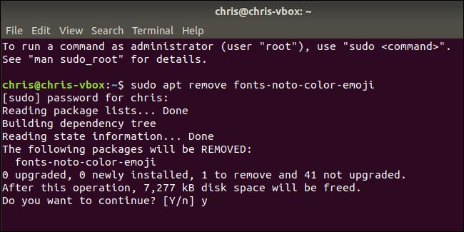 Nola desinstalatu Emoji Ubuntu-n 3