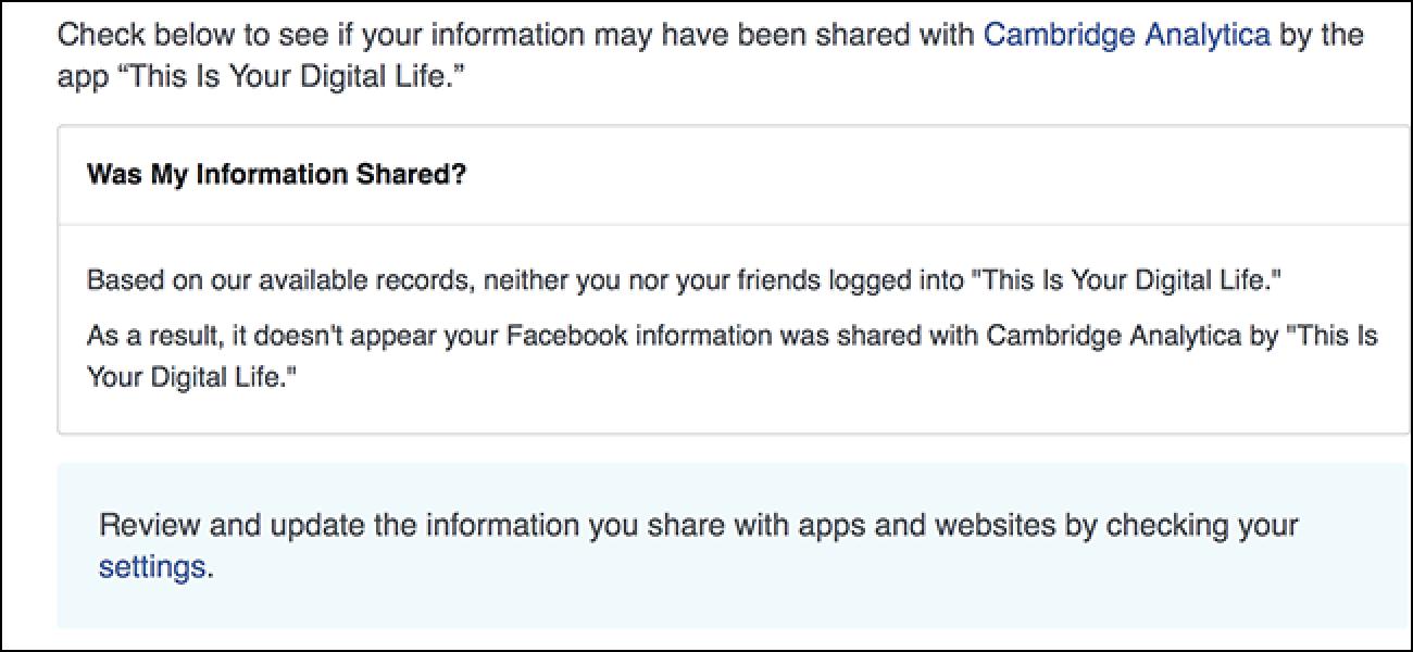 Nola egiaztatu Cambridge Analyticsic-ek zurea Facebook info