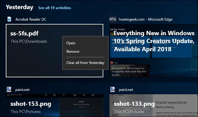 Zer da Windows 10 denbora-lerroa, eta nola erabiltzen dut? 4